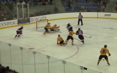 Colgate men's ice hockey defeats Quinnipiac 3-1 in Hamden