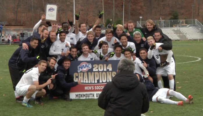 Monmouth men's soccer wins MAAC Championship defeating Fairfield 2-1