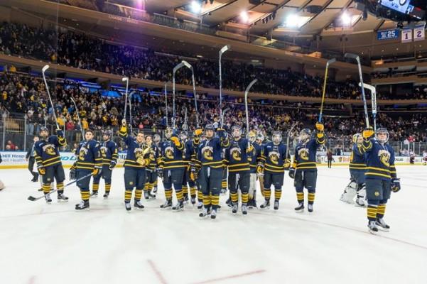 Quinnipiac edges Harvard 5-4 in OT, claim Rivalry on Ice trophy