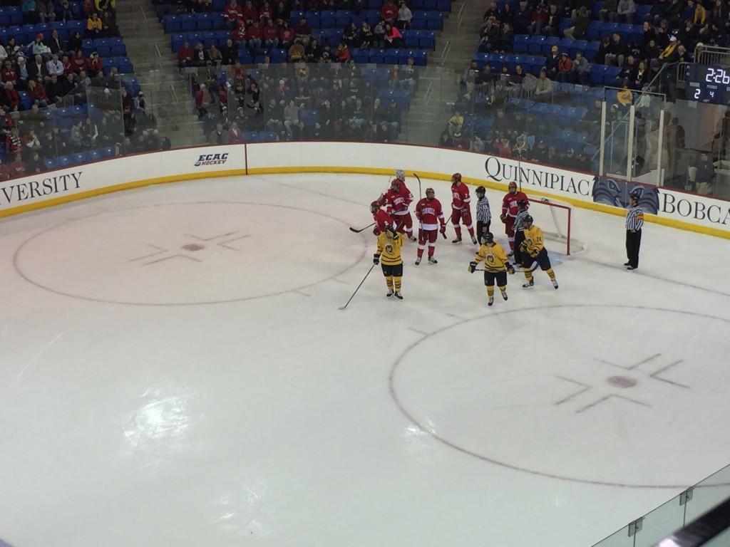 Cornell ties Quinnipiac behind Vanderlaans late goal