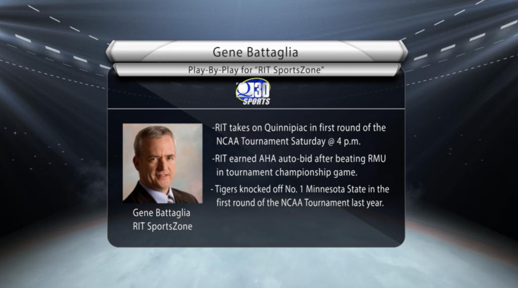 RIT SportsZone's Gene Battaglia talks Quinnipiac vs. RIT