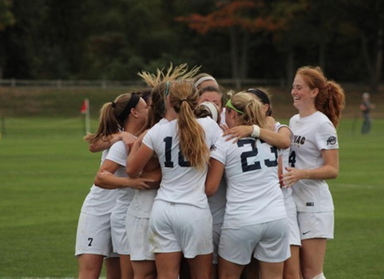 The Quinnipiac women's soccer team finishes regular season with commanding 3-1 win