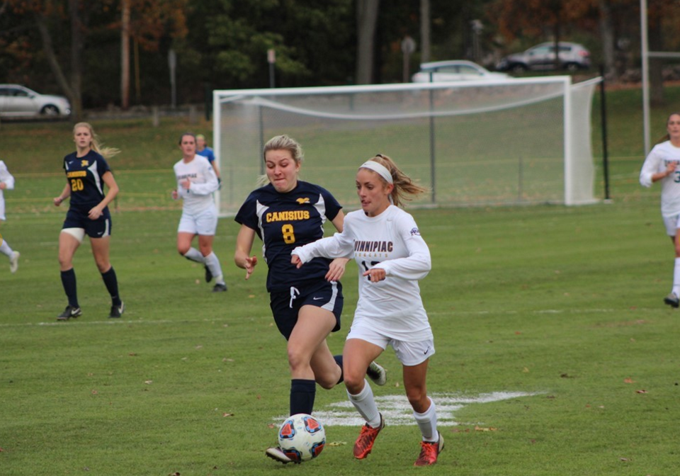 Quinnipiac womens soccer shuts out Canisius 3-0, advances to MAAC semifinal game