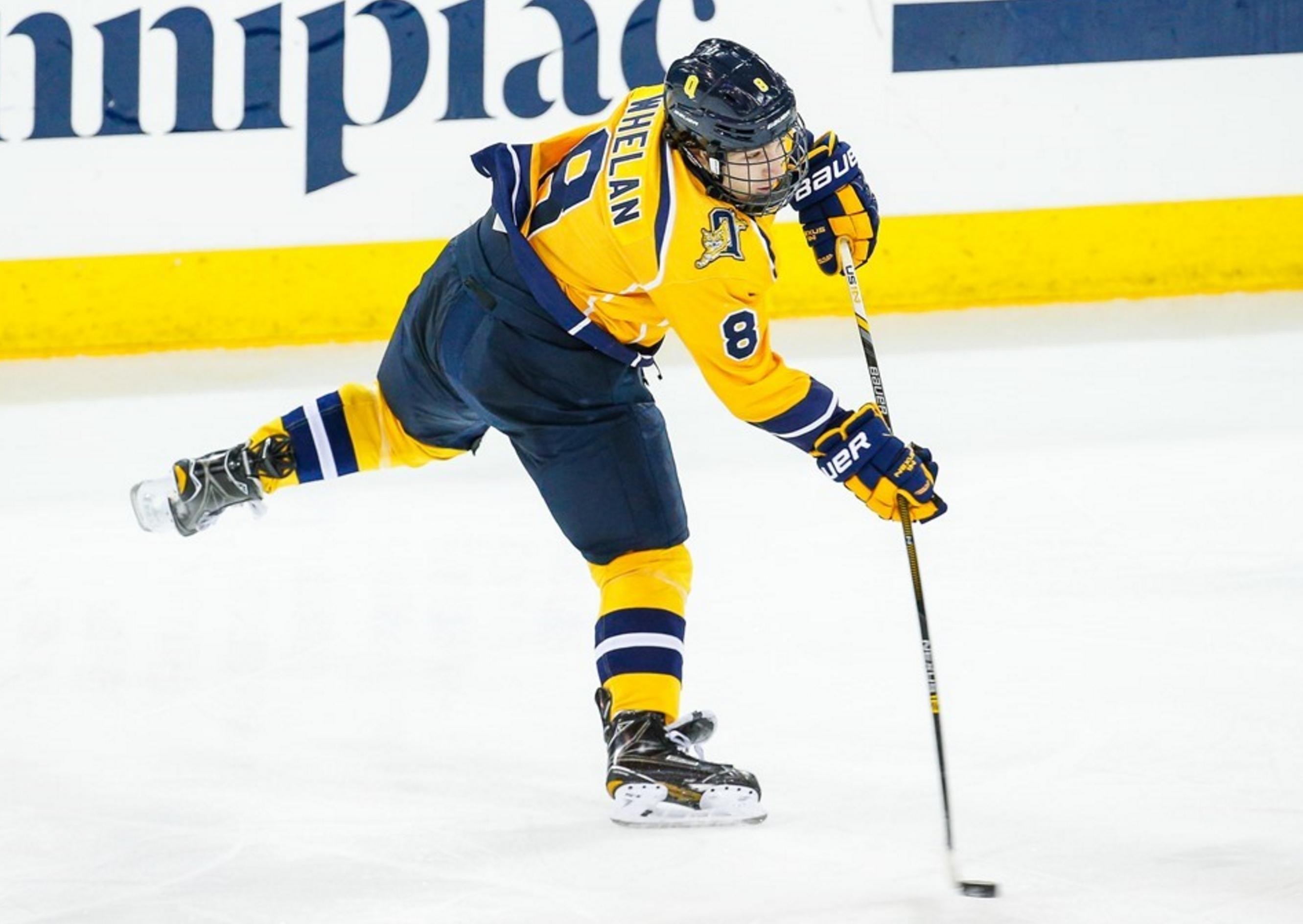 Weighing in on Alex Whelan's journey to the Quinnipiac men's ice hockey team