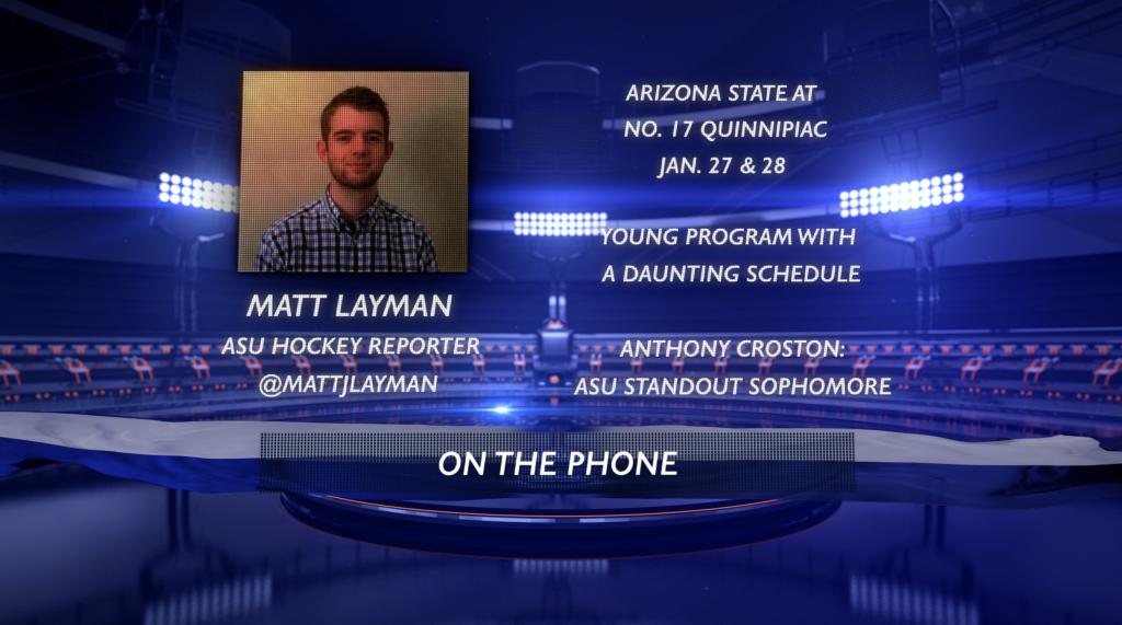 Preview: Arizona State reporter Matt Layman previews the mens ice hockey teams trip to Quinnipiac