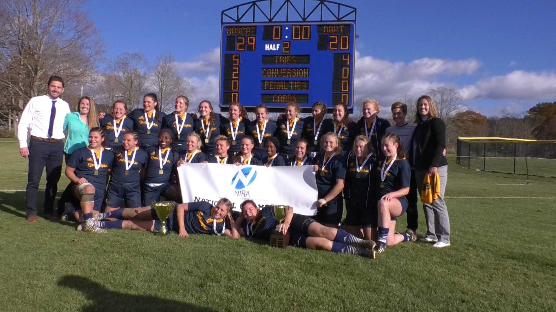 """Quinnipiac rugby makes history, """"three-peats"""" as national champions"""