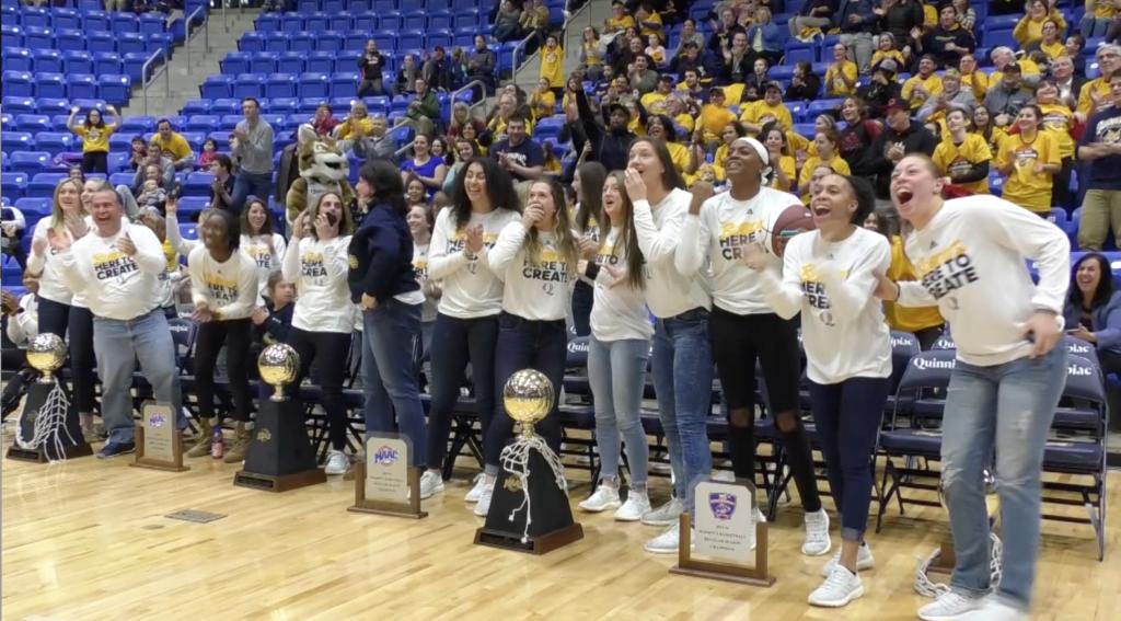 Video: The Quinnipiac womens basketball team is dancing again