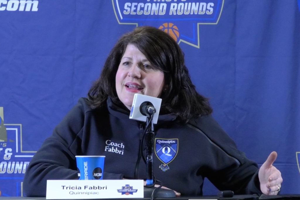 Tricia Fabbri reflects on coaching daughter Carly ahead of NCAA Tournament game