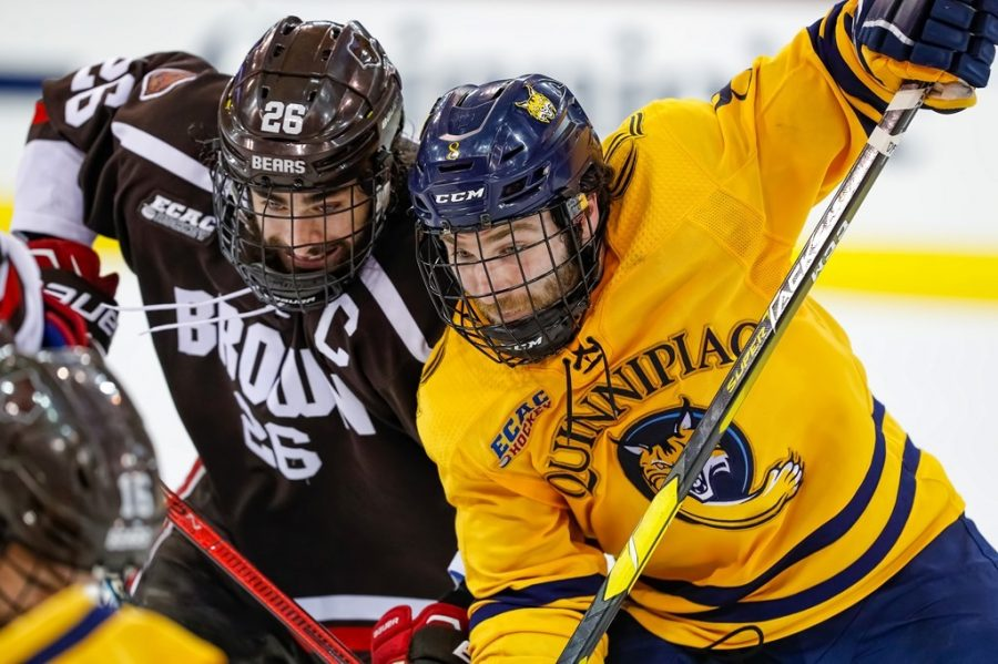 No. 8 Brown stuns No. 1 Quinnipiac, sweeps ECAC Hockey quarterfinals