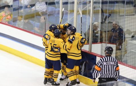 Quinnipiac men's ice hockey's comeback falls short in exhibition game