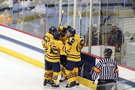 Quinnipiac men's ice hockey's comeback falls short in exhibition game