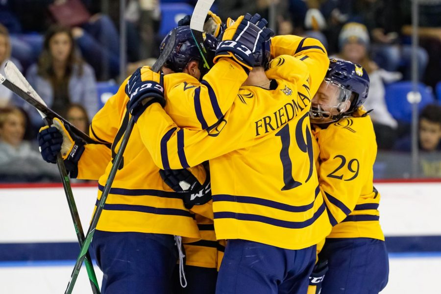 Quinnipiac men's ice hockey looking to bounce back from a tough weekend