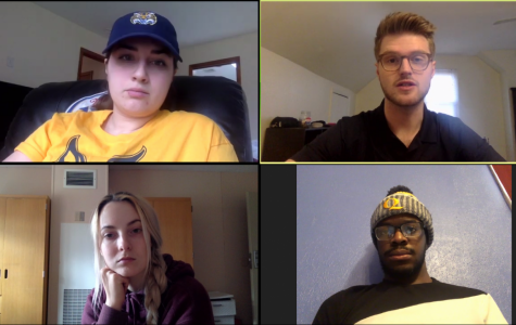 SGA executive board members: Sophia Marshall and Austin Calvo (top), Barbora Hriňáková and Jamien Jean-Baptiste (bottom)