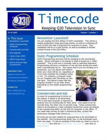 2005- Q30 Timecode