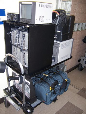 2006 - Equipment used for Live coverage of a basketball game in Burt Kahn Court