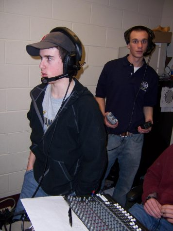 2006 - Live coverage for a basketball game in Burt Kahn Court
