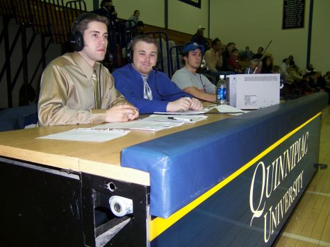 2006 - Q30 members calling the basketball game for the live coverage