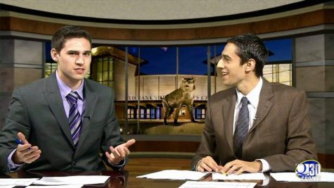 One of the last shows broadcasted from Ed McMahon Mass communications centerMark Spillane '15 Jon Alba '15