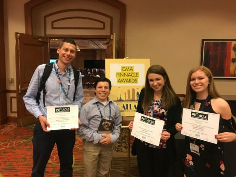 October 2017 - ACP/CMA conference (Dallas, Texas) for CMA Awards. Chris Dacey '20, MJ Baird '19, Krista Dillane '20, Brooke Reilly '20