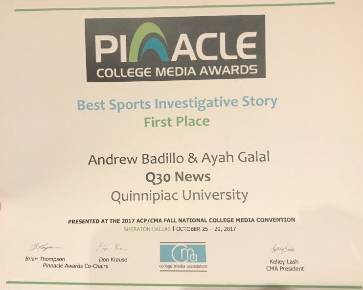 2017 - Q30 News - Sports investigative story