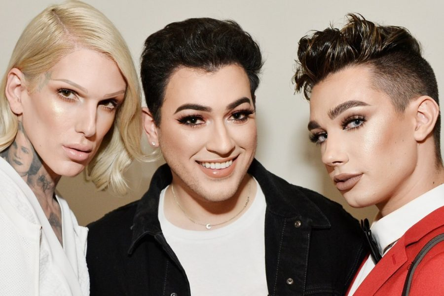 (From left) YouTube stars Jeffree Star, Manny Gutierrez and James Charles are among the world's top-ranked beauty and make-up influencers. Photo: Getty Images