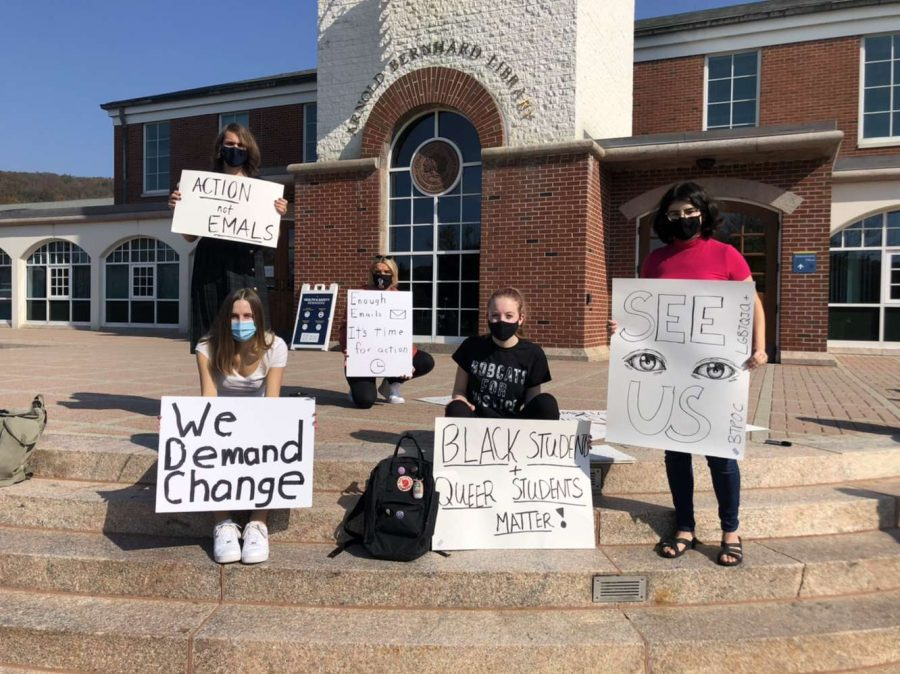 Students protest Quinnipiac
