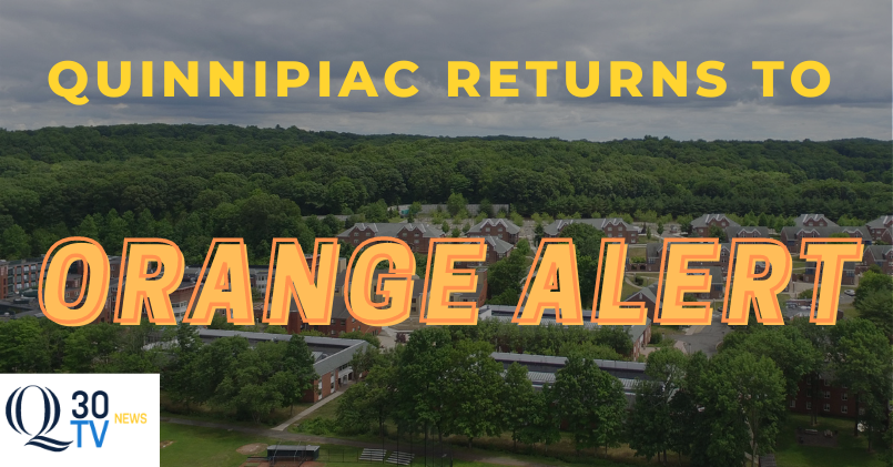 Quinnipiac reverts to orange alert as COVID-19 cases decrease