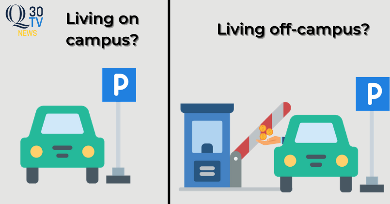 Quinnipiac+students+are+displeased+with+new+parking+fee+for+non-residential+students
